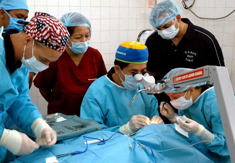 Cirurgia en un hospital amigo enfermo