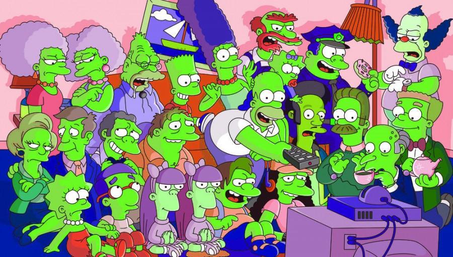 Los simpsons verdes