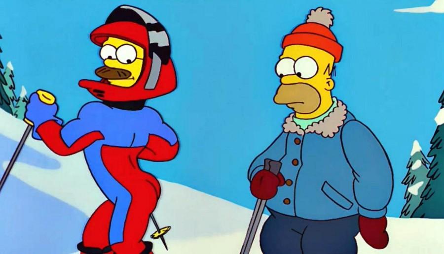 Ned Flanders esquiando