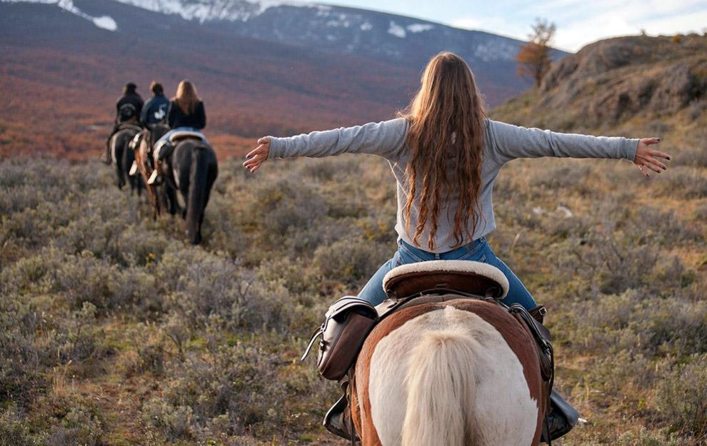 Patagonia - caballo viajar