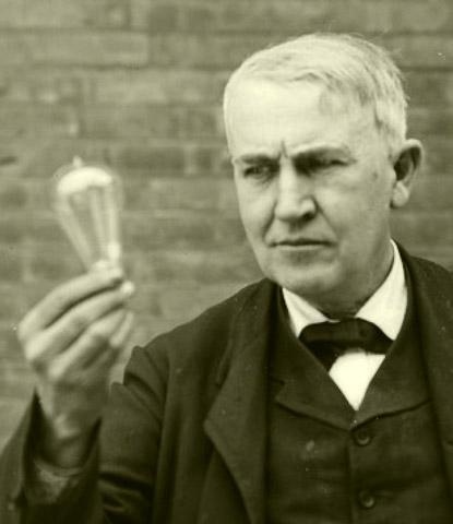 Thomas edison con su invento plagiado