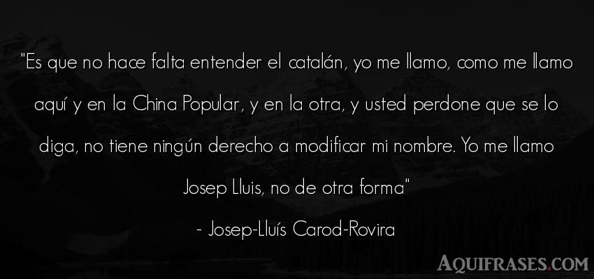 Frase de política  de Josep-Lluís Carod-Rovira. Es que no hace falta