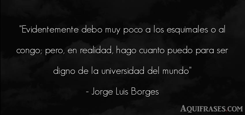 Frase del medio ambiente  de Jorge Luis Borges. Evidentemente debo muy poco