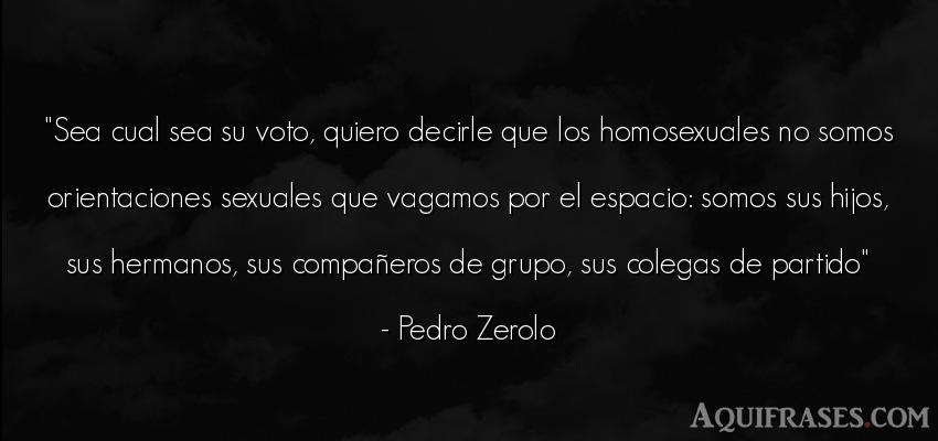 Frase para un hijo,  de niño  de Pedro Zerolo. Sea cual sea su voto, quiero