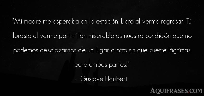 Frase de mujeres,  para una madre  de Gustave Flaubert. Mi madre me esperaba en la