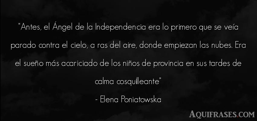 Frase de niño  de Elena Poniatowska. Antes, el Ángel de la