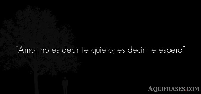 Amor No Es Decir Te Quiero Es Decir Te Espero