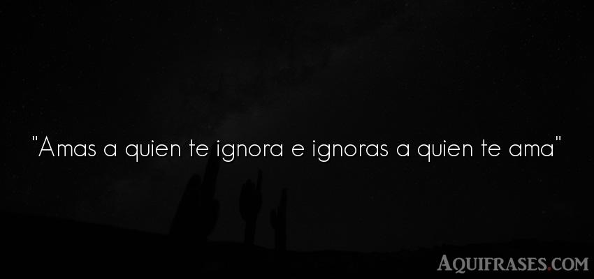 Amas A Quien Te Ignora E Ignoras A Quien Te Ama