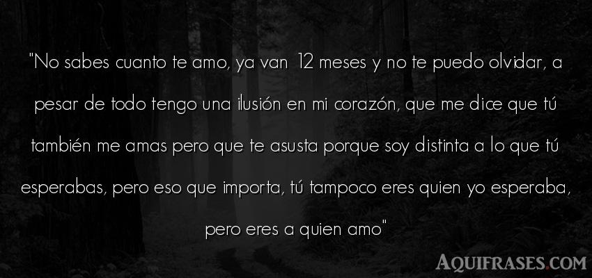 No Sabes Cuanto Te Amo Ya Van 12 Meses Y No Te
