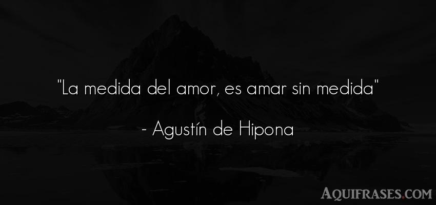 La Medida Del Amor Es Amar Sin Medida