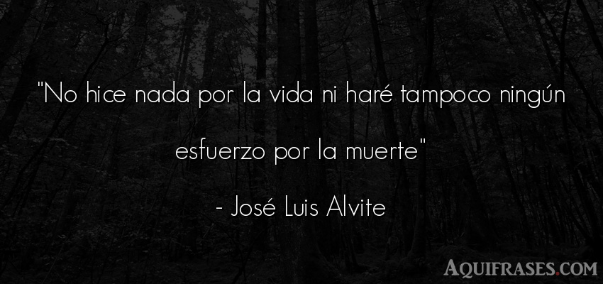 Frase divertida,  de muerte  de José Luis Alvite. No hice nada por la vida ni