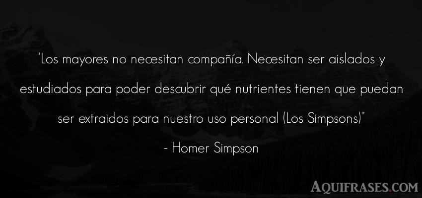 Frase divertida  de Homer Simpson. Los mayores no necesitan
