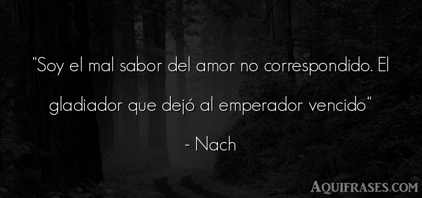 Soy El Mal Sabor Del Amor No Correspondido El