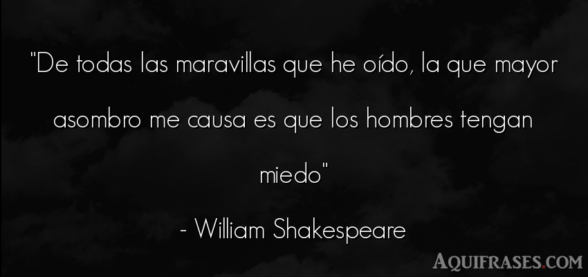 Frase de hombre  de William Shakespeare. De todas las maravillas que