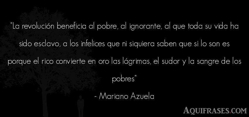 Frase de la vida  de Mariano Azuela. La revolución beneficia al