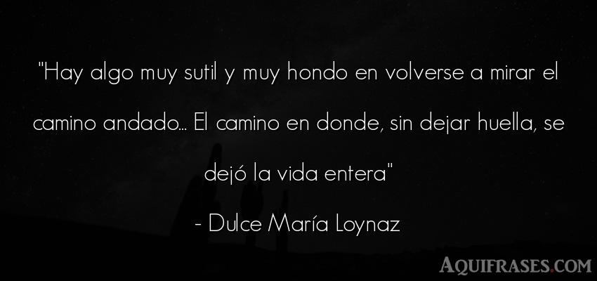 Frase de la vida  de Dulce María Loynaz. Hay algo muy sutil y muy