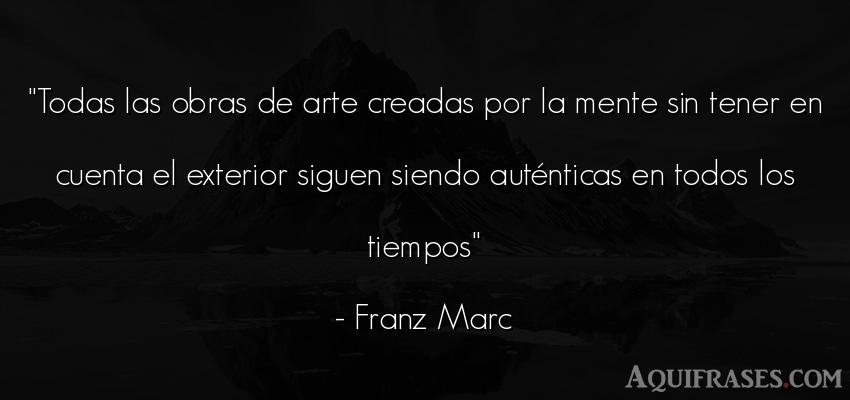 Frase del tiempo  de Franz Marc. Todas las obras de arte