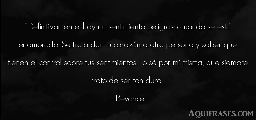 Frase de sociedad  de Beyoncé. Definitivamente, hay un
