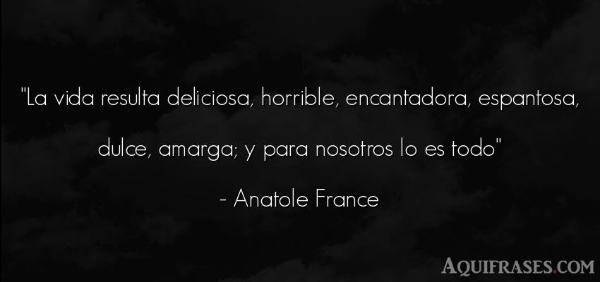Frase de la vida  de Anatole France. La vida resulta deliciosa,