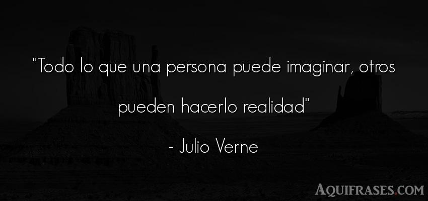 Frase de sociedad  de Julio Verne. Todo lo que una persona