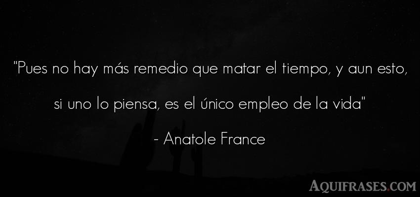 Frase de la vida  de Anatole France. Pues no hay más remedio que