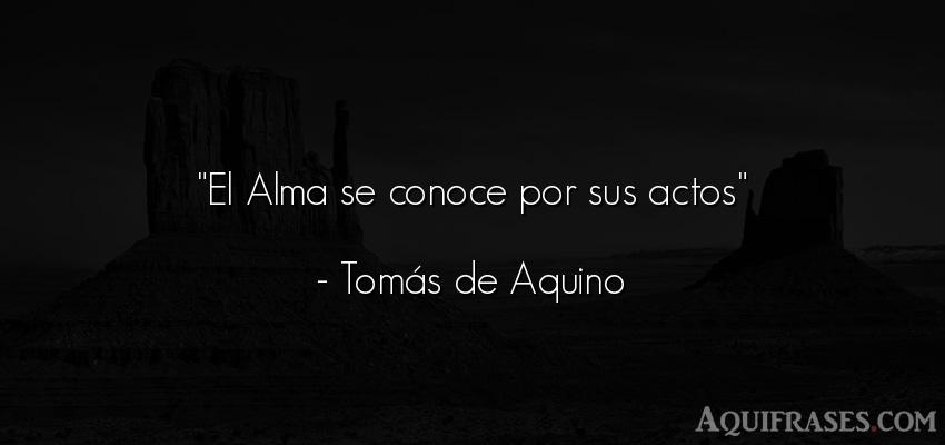 Frase del alma  de Tomás de Aquino. El Alma se conoce por sus