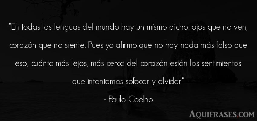 Frase del medio ambiente  de Paulo Coelho. En todas las lenguas del